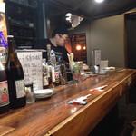 大阪食酒 リエカオ - 店内カウンター席@2016/03/04