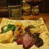 鉄板焼き Oribe - 料理写真:おまかせ野菜盛りと赤ボトル16.2