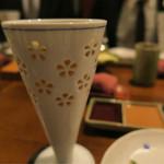 北新地 串かつ凡 - ビールグラスは、陶器です
