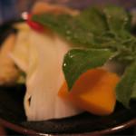 北新地 串かつ凡 - 野菜たち