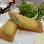 Dining TABI - エソと山ウドの春巻き。柚子胡椒と生クリームマヨネーズソース