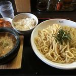 つけ麺丸和 - 丸和つけ麺(中盛り)からあげセット