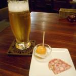 マブヤ - 2016.3:生ビールとお通し