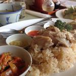 48286059 - 鶏飯は鶏出汁で炊いたライス