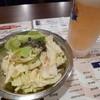きんしゃち酒場 - 料理写真:極冷え生(450円)&塩だれキャベツ(150円)