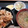 そばの実 - 料理写真:2016.02かき揚げ丼セット