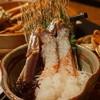 まる屋 - 料理写真:カニ刺。圧倒的な存在感