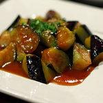 和食処 まる - 茄子の辛みそ炒め600円