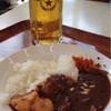 ウッドランドカフェ - 料理写真:んばらカレー  (上州牛使用)1000円  と  サッポロ生ビール  600円