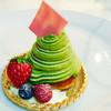 西洋菓子倶楽部 - 料理写真:ピスタチオのモンブラン 甘さ控ぇ目であっさり(ノ≧ڡ≦)