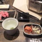 藤栗ホルモン - カルビ定食