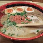 えびそば 一幻 - そのまま塩太麺+味玉+チャーシュー