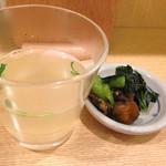 伊勢廣 - 鳥スープと漬物