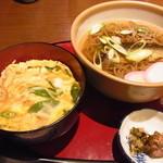 味楽座 - にしんそばとミニ絹笠丼のセット