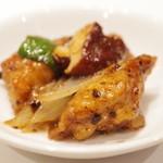 新世界菜館 - もち豚ロースの豆豉炒め