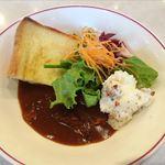 カフェ&ビュフェレストラン クレール - クロックムッシュ、カレー、サラダ
