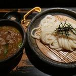 山元麺蔵 - 香味油の豚肉のつけ麺(1050円)
