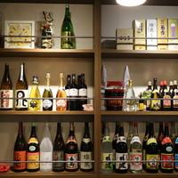豊富な種類の酒類