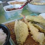 天ぷら倶楽部 - 天ぷら定食A(6品:野菜3種・魚3種)730円