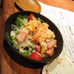 北浜 よし田 - シーザー・サラダ、想像以上でオススメ!