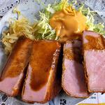 レストランばーく - 「ハムカツ定食」のメイン(2016年3月)