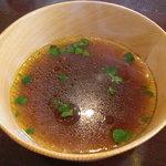 元祖 むらさき - 比内地鶏の出汁は濃厚で美味い。