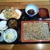 SOVA TEA 越路 - 料理写真:■ 越路セット¥1500 < 常陸秋そばの二八・天麩羅・けんちん汁・小鉢・デザート>