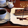 珈琲茶館 集 - 料理写真:プレミアムビターとチョコレートのケーキのコーヒーセット 1,210円