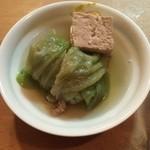 なか川 - きゃべつ巻 + 豆腐