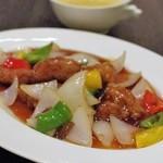 中国料理 桃翠 - 酢豚