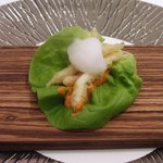 スリオラ - 白魚のフリット、ロメスコソース