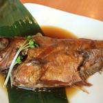 まぐろ食堂 七兵衛丸 - 金目鯛の煮付けの単品メニュー。これは毎回欠かせないメニューとなっています。