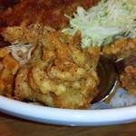 ランラン - BIG丼とんかつ唐揚げ3