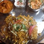 Indhianresutoranaruthi - ビリヤニセット、ベジタブルカレー