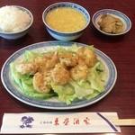 東栄酒家 - 小海老天ぷらのマヨネーズ和え