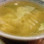 中華四川料理 もりた - 何気にスープも美味しい
