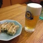 中華四川料理 もりた - 相方が愛してやまない、餃子とビールのコンビ