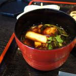 そば切り 稲美 - 鴨汁。鴨が炙ってあるから美味しい。 (>_<)