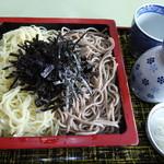 皿谷食堂 - <'16.03.16>ざる(相盛り)