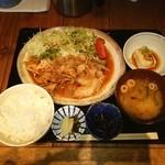 料理屋 三船 - 豚生姜焼き定食❤ ヽ(●´ε`●)ノ