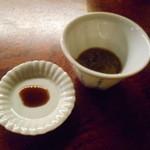 燗酒嘉肴 壺中 - 2016.3:牡蠣の塩辛とオイスターソース