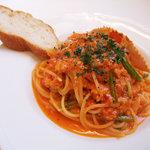 ア ピアチェーレ - ワタリガニのスパゲッティー