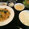 やまちゃん - 料理写真:日替りランチ(豚肉と炒り卵の辛し炒め)