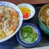 かわい - 料理写真:カツ丼の小うどんセット 税込千円也