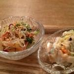 ココシカ - 春雨サラダに野菜シュウマイ(2016.3.18)