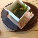蕎麦 貴賓館 - 青菜のお浸し
