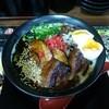 博多麺番長 - 料理写真:ブラック焦がしとんこつ豚2種のせ麺