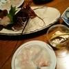 民宿 かいとく丸 - 料理写真:伊勢海老をまずはお刺身で…。ヒラメは生唐辛子でいただきます。