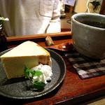 カフェ百時 - バナナチョコチップベイクドチーズケーキ¥380
