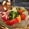 竹林庵みずの - 料理写真:サラダの野菜はすべて自家栽培でフレッシュ。